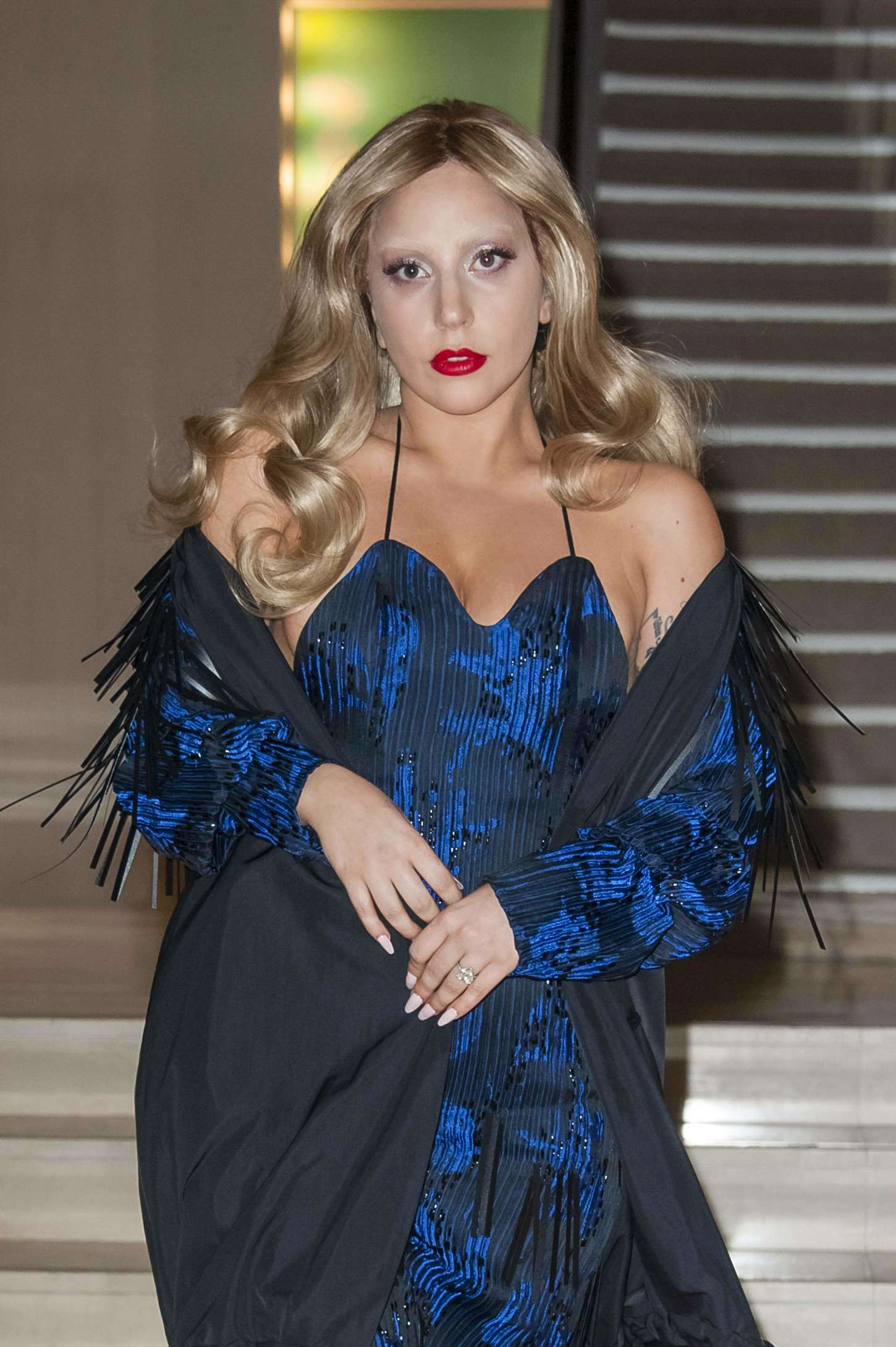 Lady Gaga - Leaving the Chanel Store in Paris