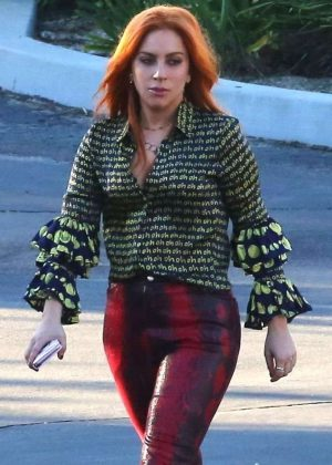 Lady Gaga on 'A Star Is Born' set in LA
