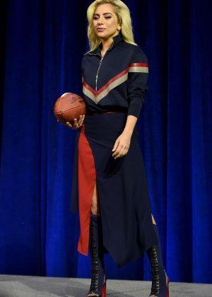 Lady Gaga - Pepsi Zero Sugar Super Bowl LI Halftime Show Press Conference in Huston