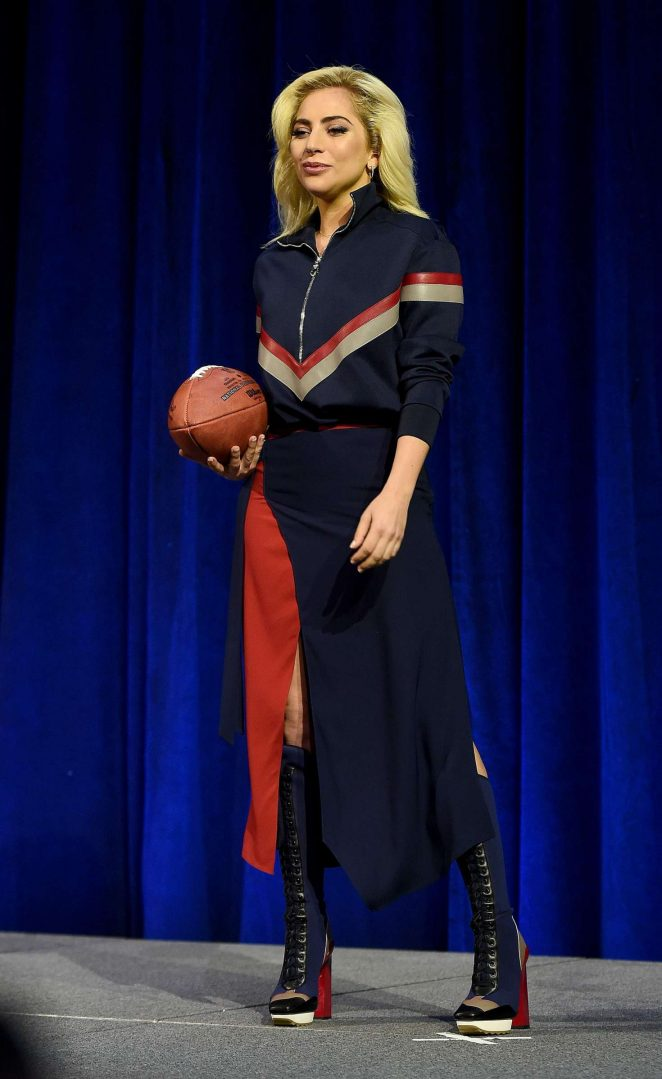 Lady Gaga - Pepsi Zero Sugar Super Bowl LI Halftime Show Press Conference in Huston
