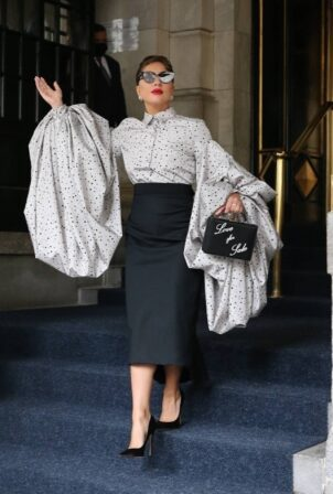 Lady Gaga - Seen coming out from The Plaza Hotel in New York