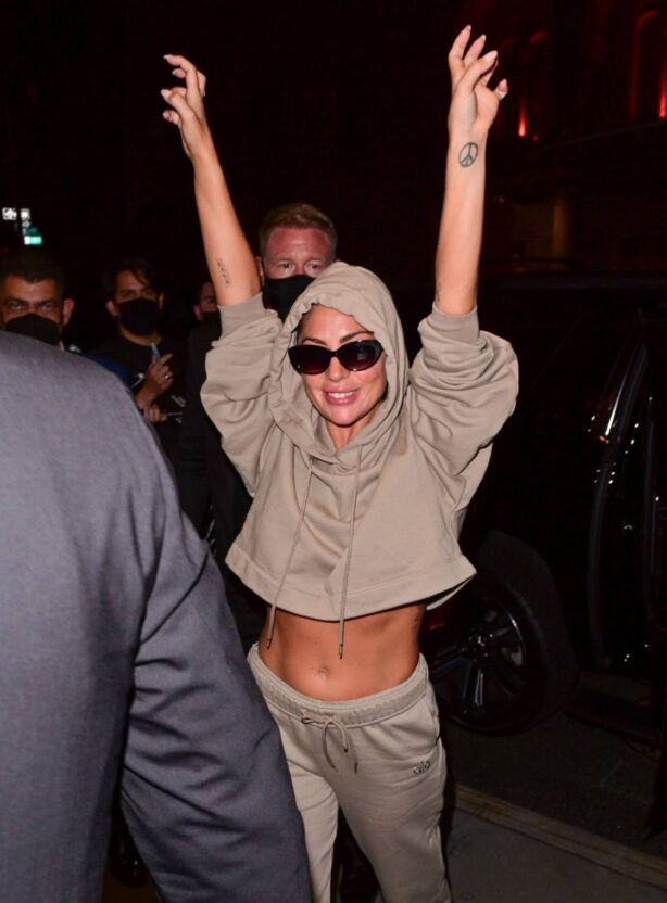 Lady Gaga - seen on the streets of Manhattan in New York City