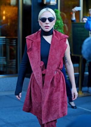 Lady Gaga seen out in Manhattan