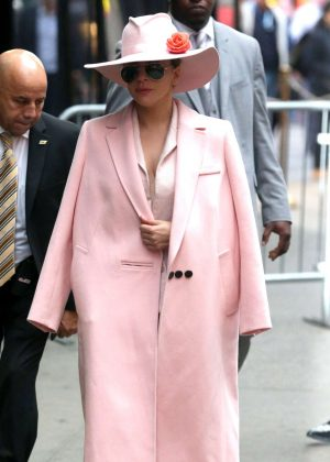 Lady Gaga - Visiting Good Morning America in NYC