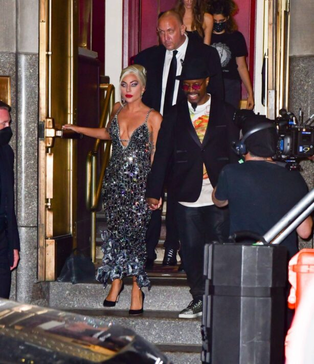 Lady Gaga - With Michael Bearden pictured at Radio City Music Hall in New York City