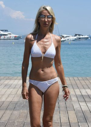 Lady Victoria Hervey in a White Bikini in Antibes