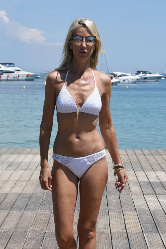 Lady Victoria Hervey in a White Bikini in Antibes