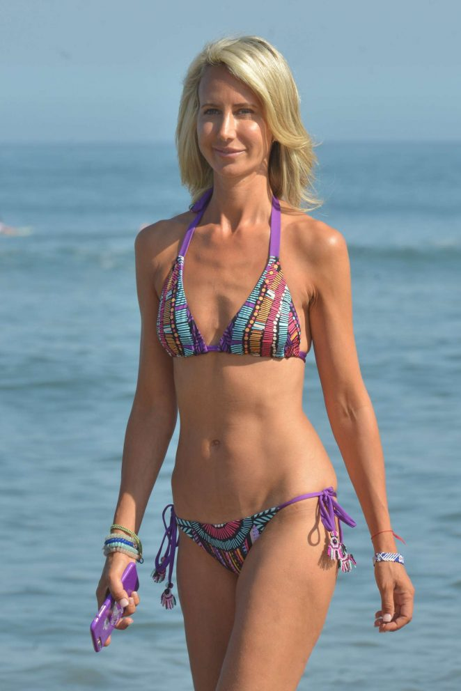 Lady Victoria Hervey in Bikini at the beach in Los Angeles