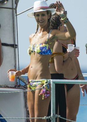 Lady Victoria Hervey in Bikini - Boat Party in Barbados