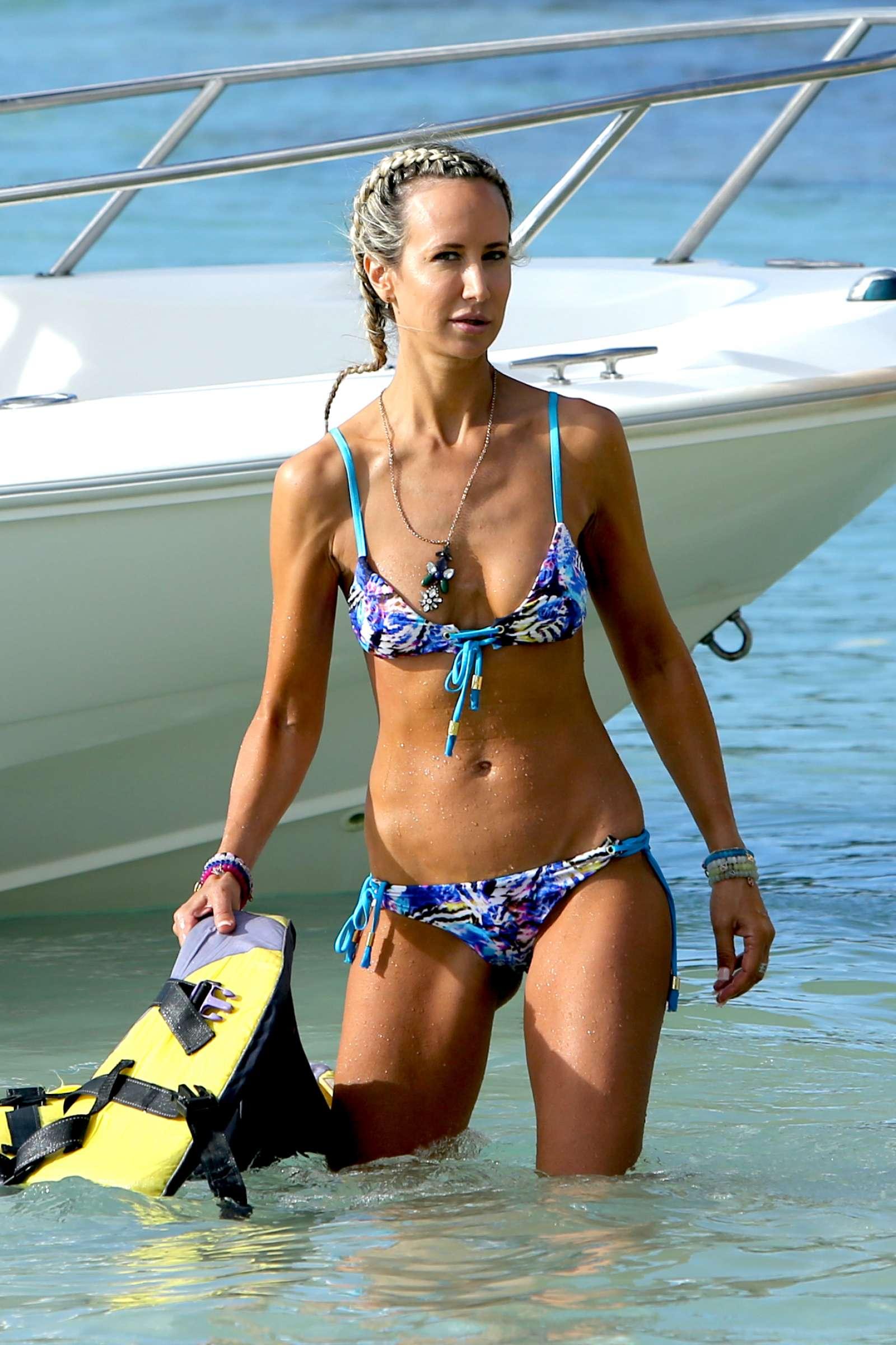 Lady Victoria Hervey in Bikini in Barbados