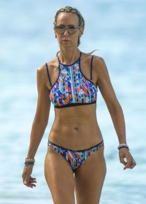 Lady Victoria Hervey in Bikini on the beach in Barbados