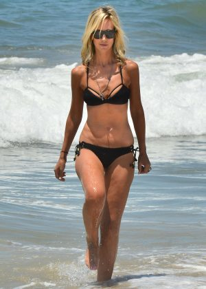 Lady Victoria Hervey in Black Bikini in Santa Monica