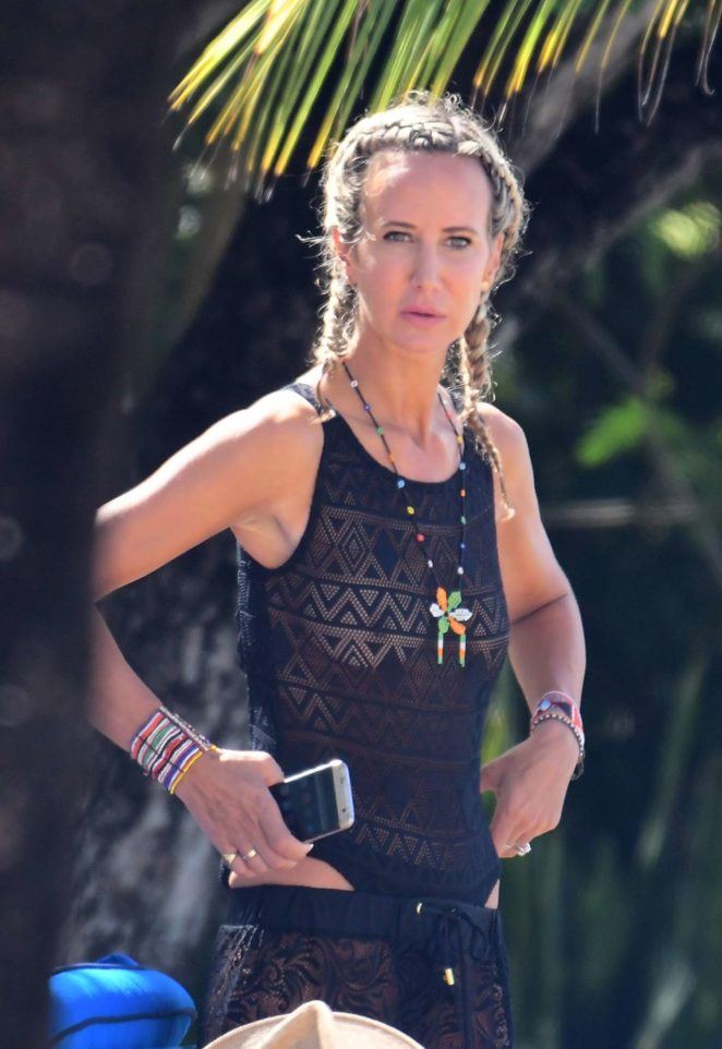 Lady Victoria Hervey in Black Swimsuit -21
