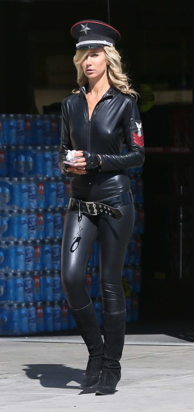 Lady Victoria Hervey in Leather -05