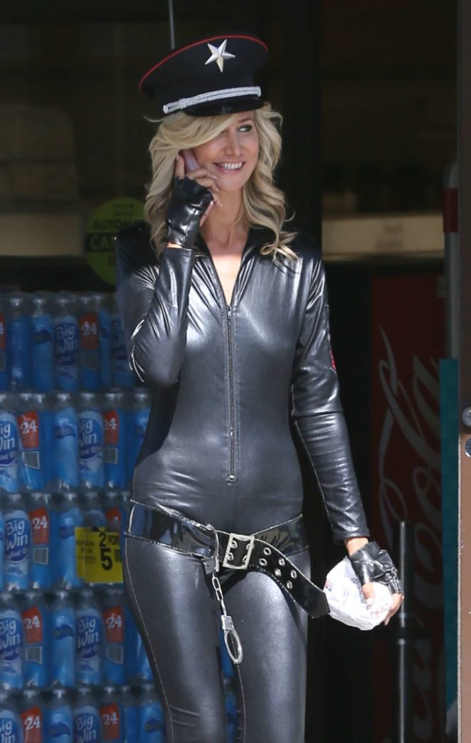 Lady Victoria Hervey in Leather -09