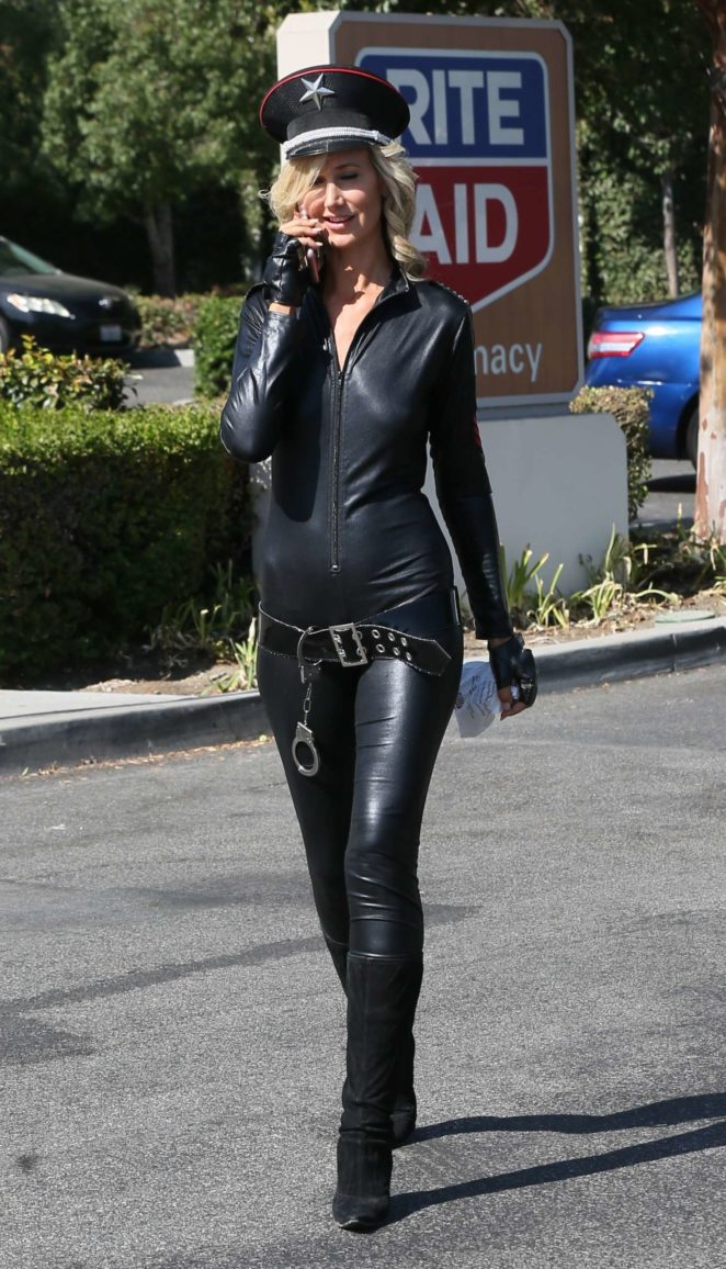 Lady Victoria Hervey in Leather -11