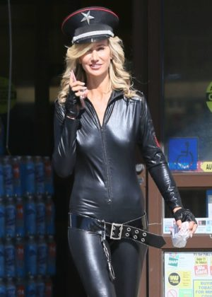 Lady Victoria Hervey in Leather out in LA