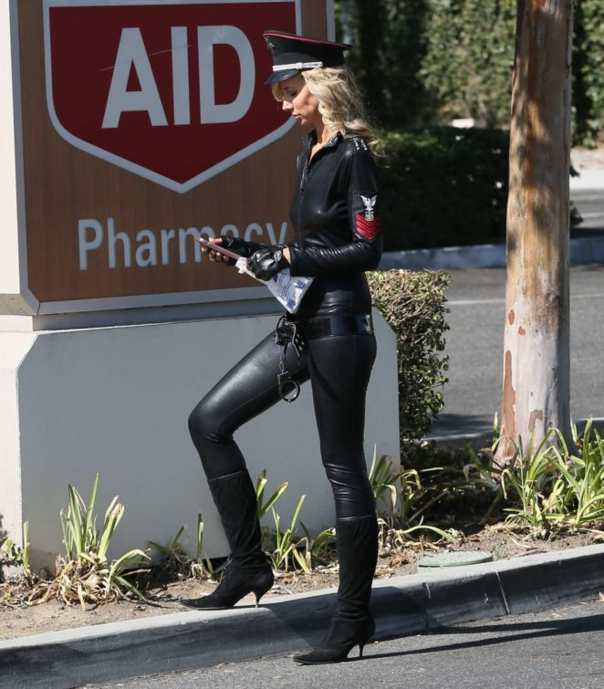 Lady Victoria Hervey in Leather -14