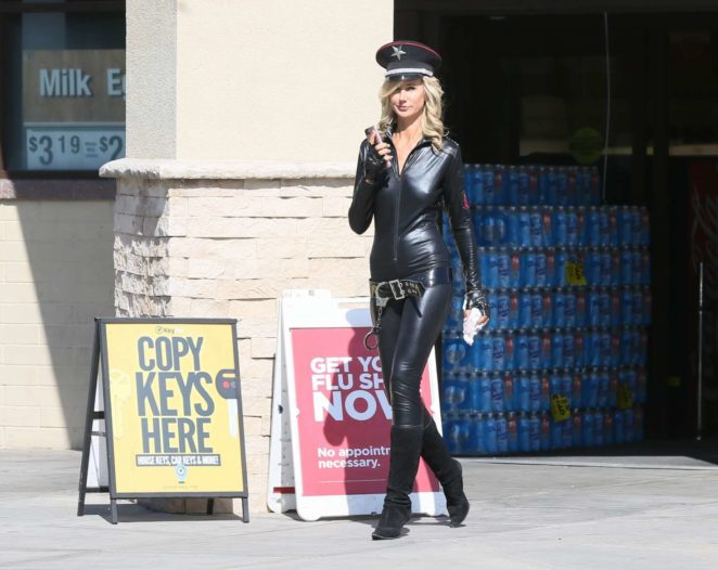 Lady Victoria Hervey in Leather -16