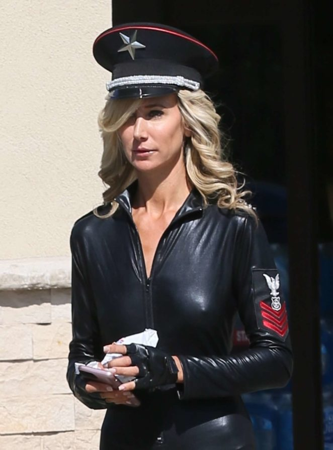 Lady Victoria Hervey in Leather -17