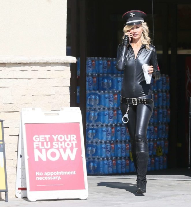 Lady Victoria Hervey in Leather -18