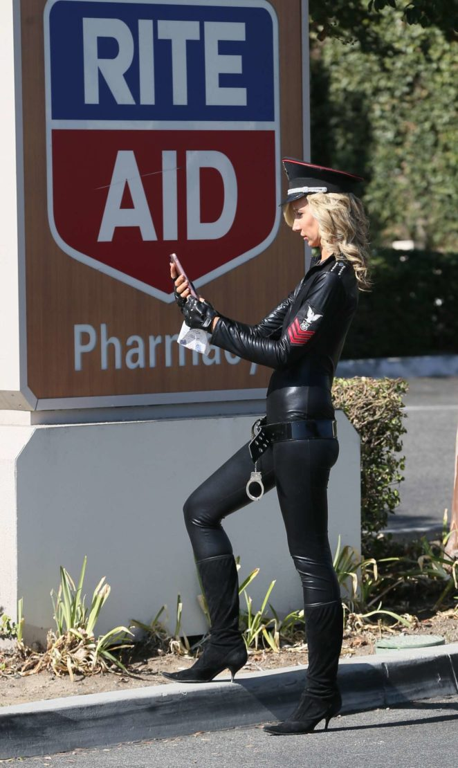 Lady Victoria Hervey in Leather -22