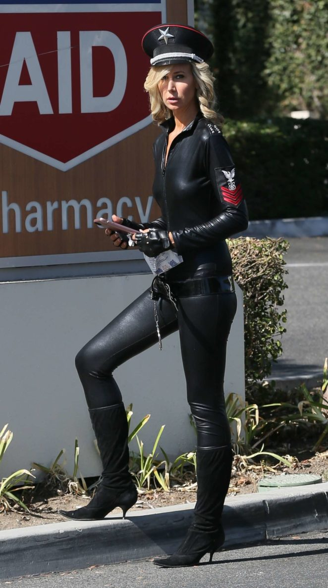 Lady Victoria Hervey in Leather -23
