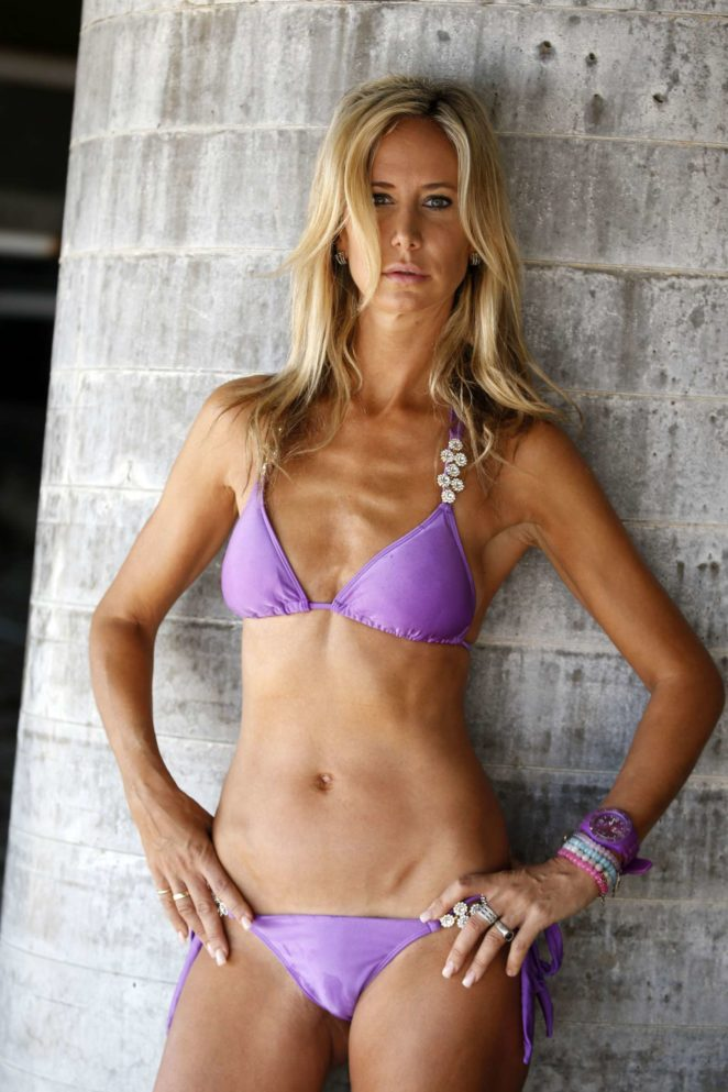 Lady Victoria Hervey in Purple Bikini on the beach in Malibu