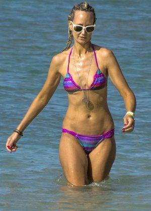 Lady Victoria Hervey in Tiny Bikini in Barbados