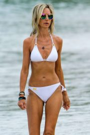 Lady Victoria Hervey in White Bikini at a beach in Barbados