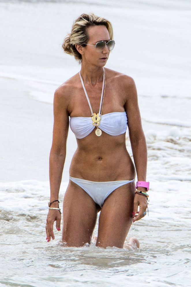 Lady Victoria Hervey in White Bikini in Barbados