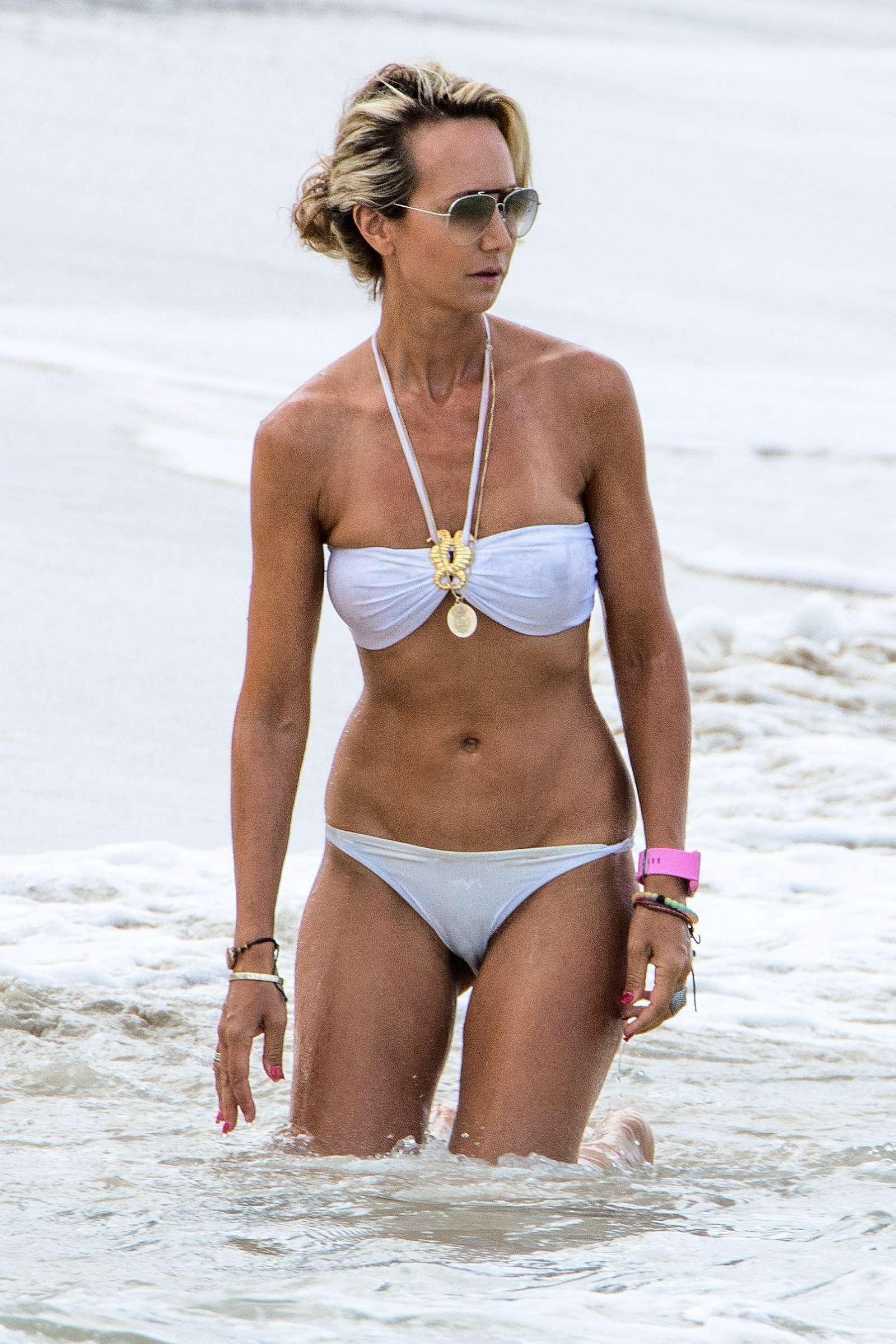 Lady Victoria Hervey in White Bikini in Barbados