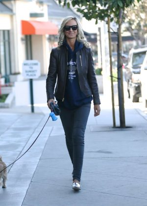 Lady Victoria Hervey - Leaving her hair salon in West Hollywood