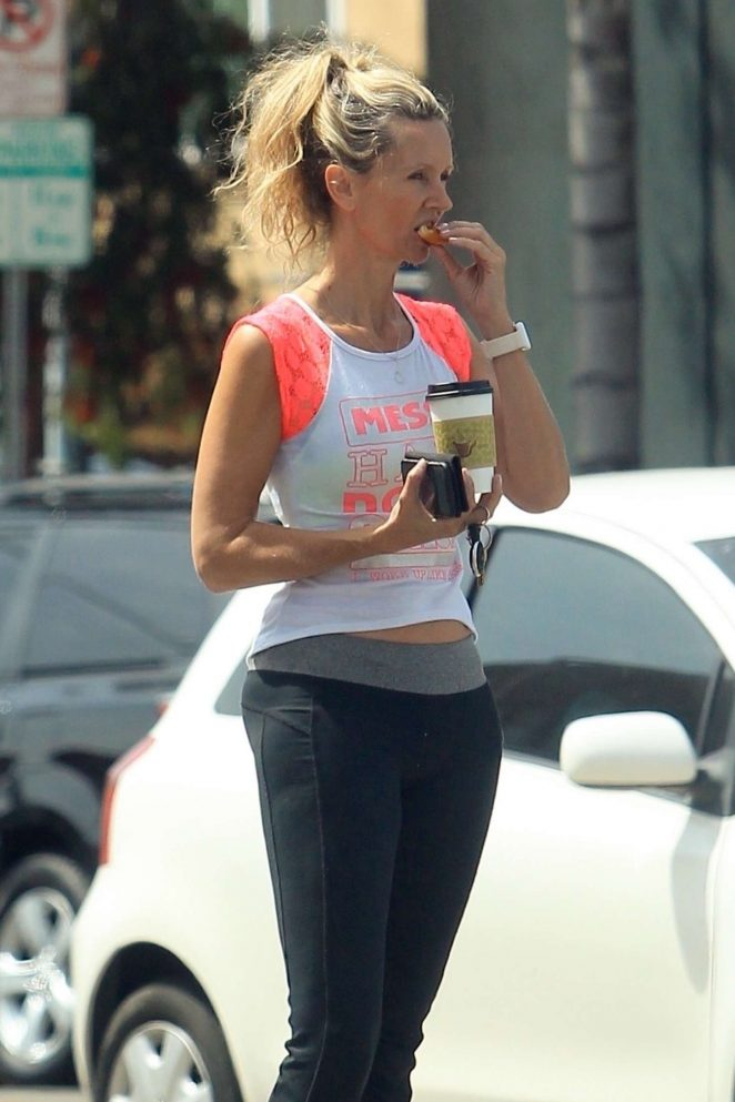 Lady Victoria Hervey - Leaving the gym in Los Angeles