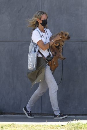 Lady Victoria Hervey - Out for a walk with her dog in West Hollywood