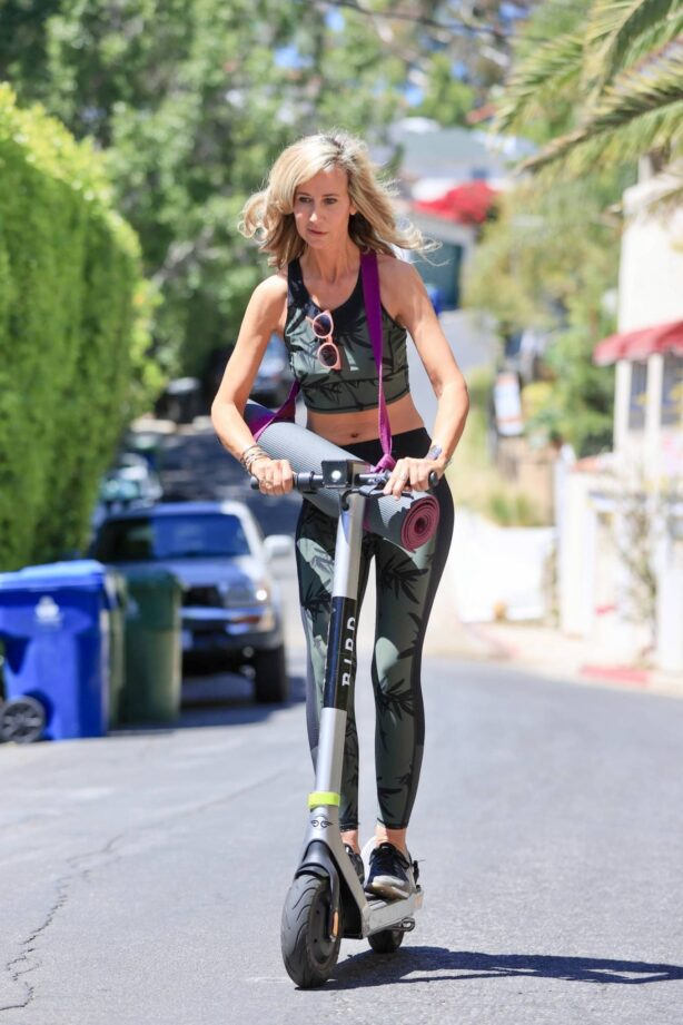 Lady Victoria Hervey - Rides a Bird scooter in West Hollywood