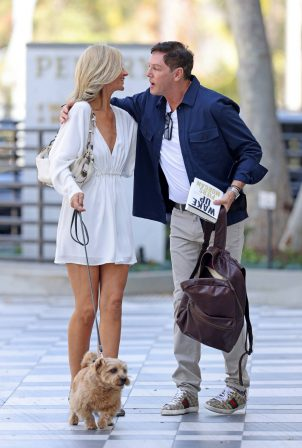 Lady Victoria Hervey - Seen with journalist Sean Borg outside of the Pendry Hotel in West Hollywood