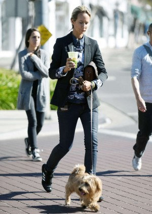 Lady Victoria Hervey Walking her dog in Los Angeles