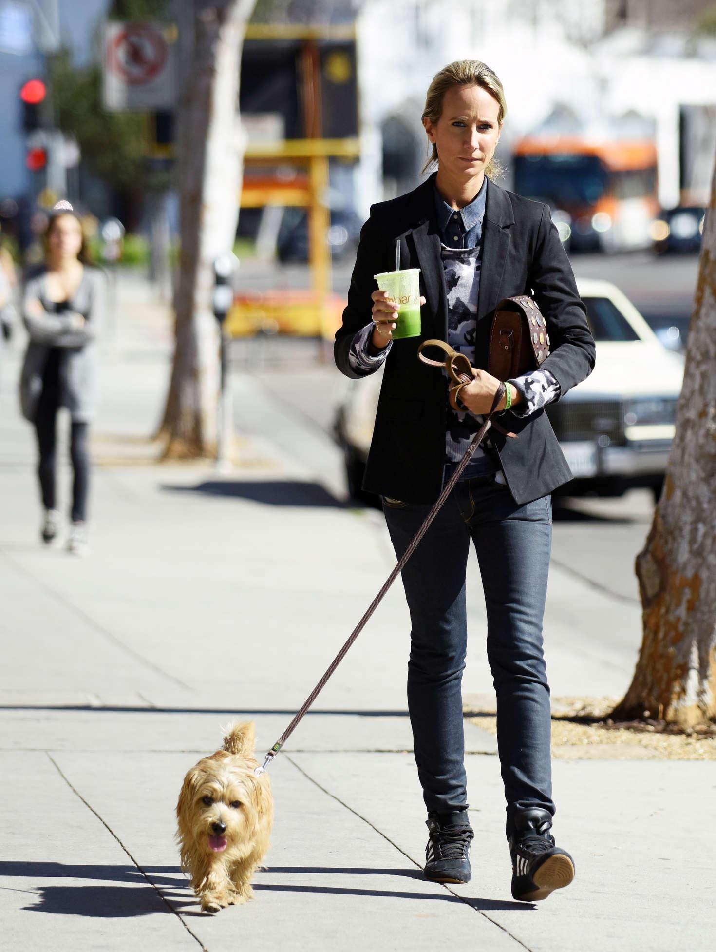 Lady Victoria Hervey 2016 : Lady Victoria Hervey Walking her dog -06