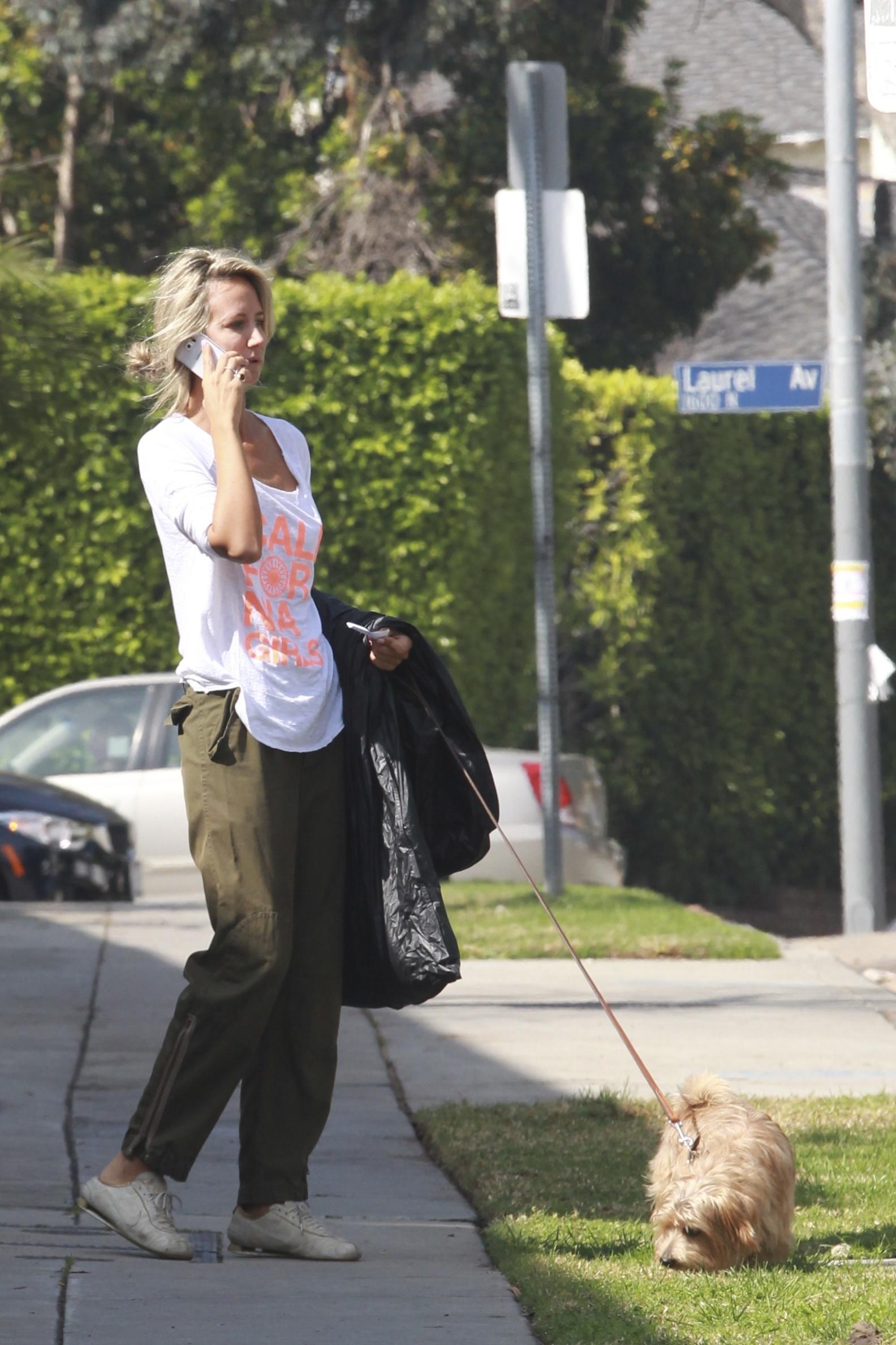 Lady Victoria Hervey 2016 : Lady Victoria Hervey Walking her dog -07