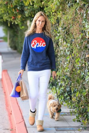 Lady Victoria Hervey - Wearing an Epic sweater with her adorable dog in Los Angeles