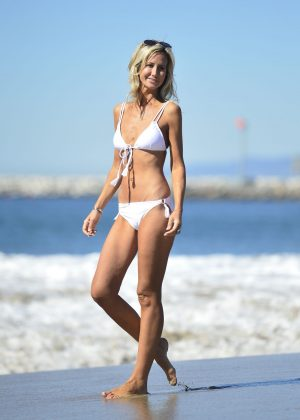 Lady Victoria Hervey - White Bikini Candids At A Beach In Malibu