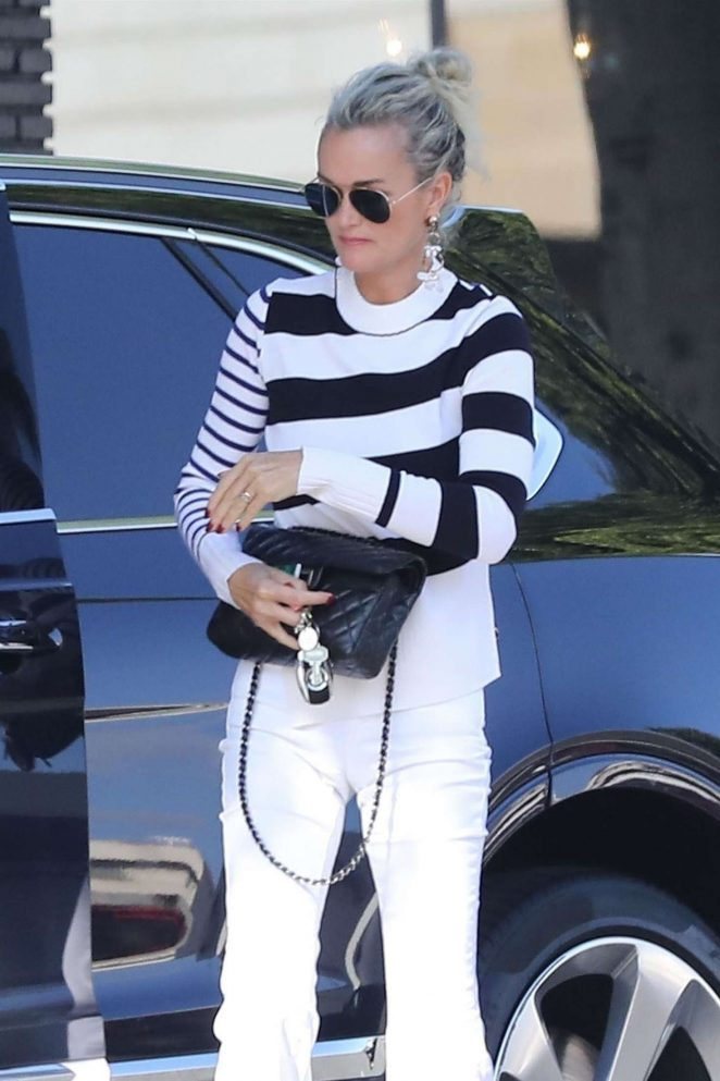 Laeticia Hallyday at Hair By Violet Salon in Beverly Hills