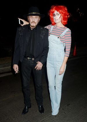Laeticia Hallyday - Kate Hudson's Halloween Party in Pacific Palisades