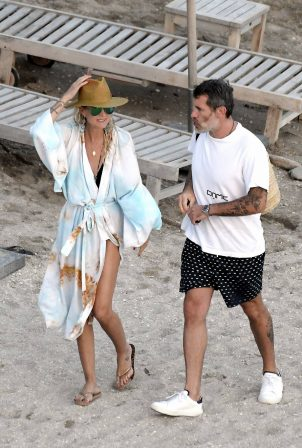 Laeticia Hallyday - With Jalil Lespert in St. Barths