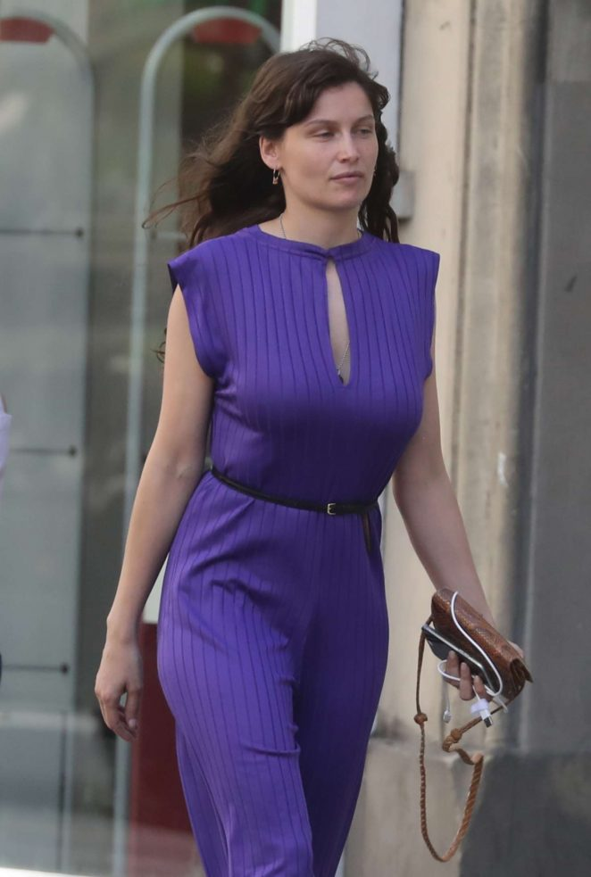 Laetitia Casta out in Paris
