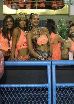Lais Ribeiro and Lays Silva at Rio's Carnival in Rio De Janiero