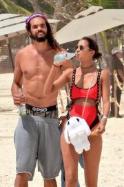 Lais Ribeiro and NBA player Joakim Noah spotted on the sands of Tulum