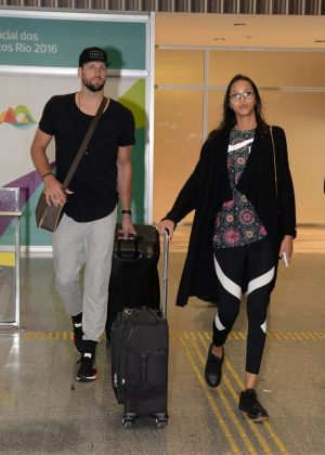 Lais Ribeiro Arrives at airport in Brazil