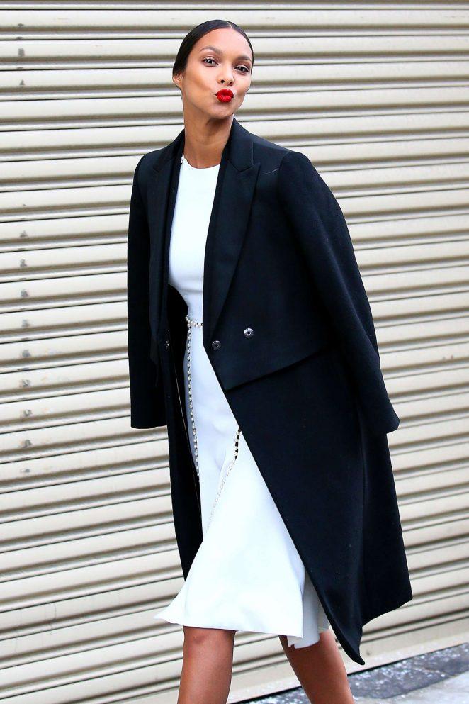 Lais Ribeiro - Arrives at fashion show in New York